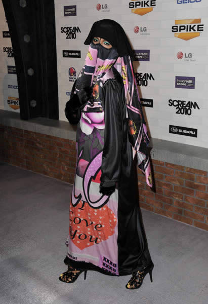 MIA burqa scream awards