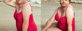 Zach Galifianakis en maillot de bain dans Vanity Fair