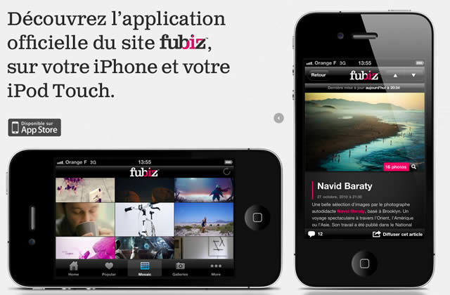 T'as un iPhone ? T'aimes Fubiz ? Tu aimeras Fubiz sur iPhone !