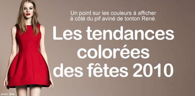 Les tendances couleurs de ton réveillon 2010