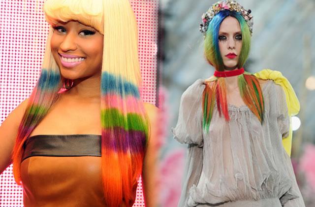 Les cheveux technicolor