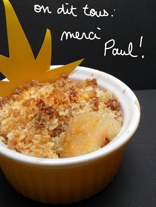 recette crumble poire