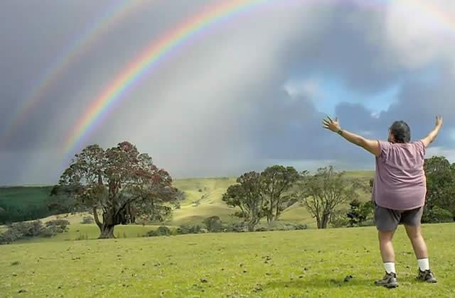 Vodafone met Double Rainbow au boulot