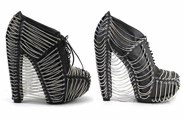 Les chaussures Crystallization de Iris Van Herpen