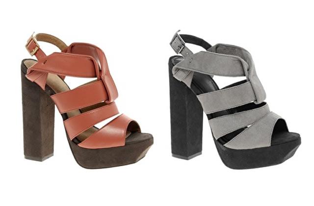 Talons carrés et platform shoes, un mélange épais