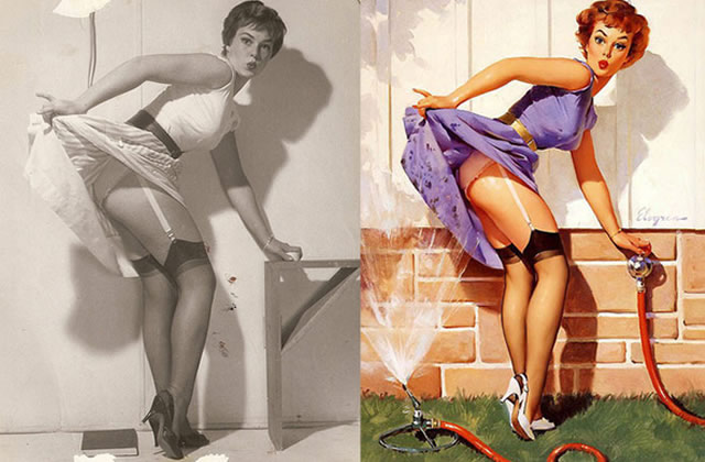 L'origine des dessins de pin-ups en photo