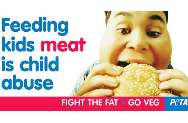 Selon PETA, faire manger de la viande à ses enfants = maltraitance