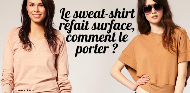 Le sweat-shirt refait surface, comment le porter ?