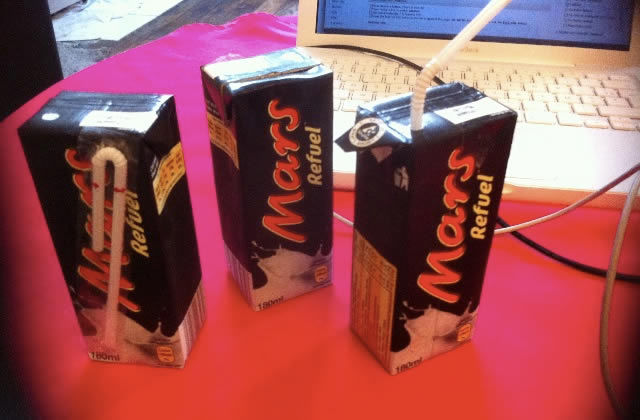 Mars Refuel, la barre chocolatée… à boire