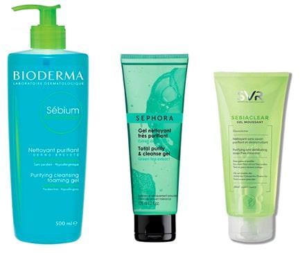 Gel nettoyant visage propre