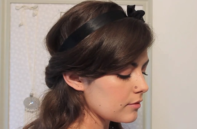 Tuto – Coiffure romantique avec cheveux semi attachés