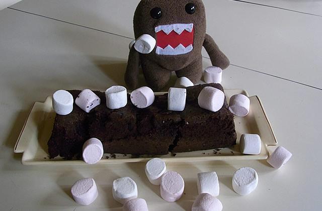 Recette – Le gâteau choco-chamallows