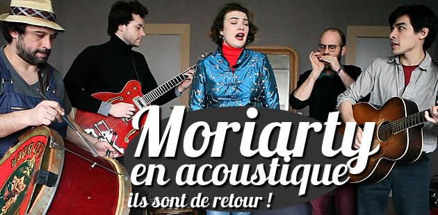 Moriarty is back ! Isabella en acoustique dans les loges du Trianon