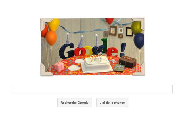 13 ans de Doodle Google