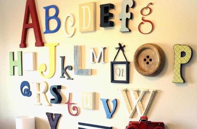 Crire sur ses murs techniques et conseils - Lettre decorative cuisine ...