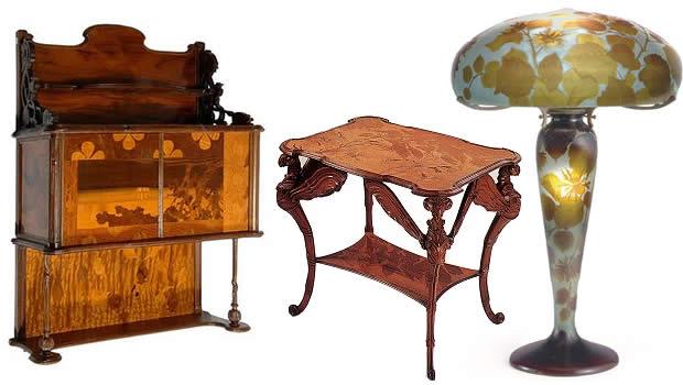 Comment reconna tre l 39 art nouveau et o en voir en europe - Art nouveau meuble ...
