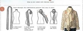6 manières de nouer son foulard