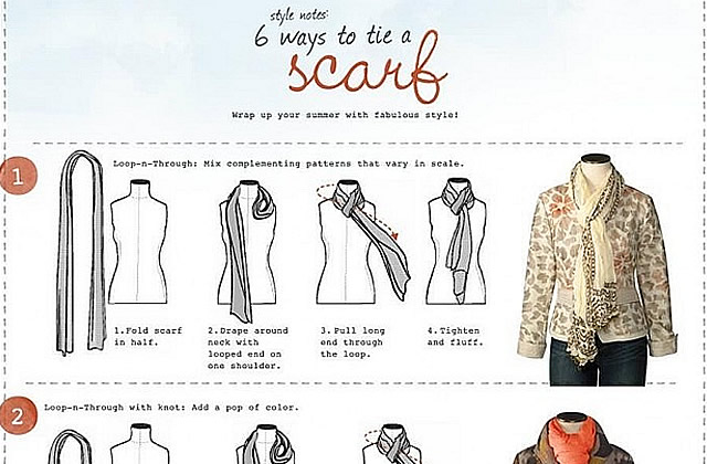 8039cb7f5a7 6 manières de nouer son foulard