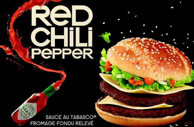 Red Chili Pepper de chez Mc Donald's : le test