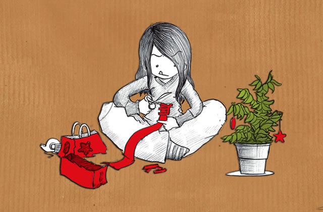 Le dessin de Nepsie #13 : Étudiante fauchée, Noël et système D