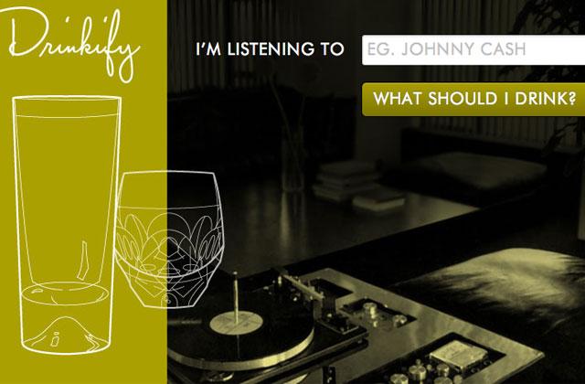 Drinkify : un cocktail adapté à la musique que vous écoutez