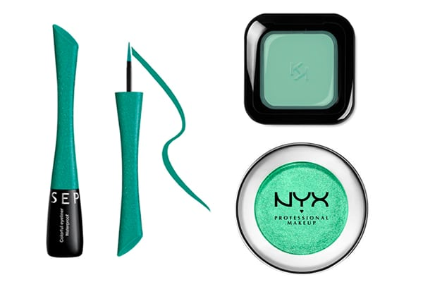 maquillage vert froid