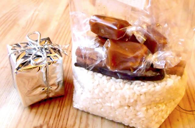 Recette de cadeaux pour Noël : le kit de riz au lait
