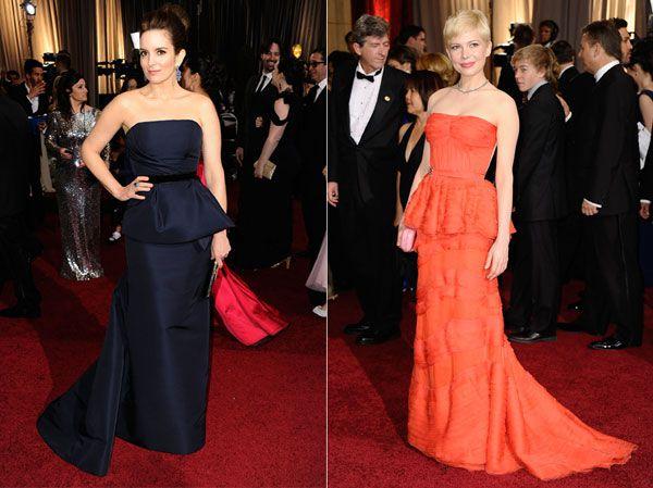 robes de célébrité longues péplumsirène bustier droit
