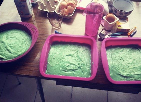 recette gâteau coloré