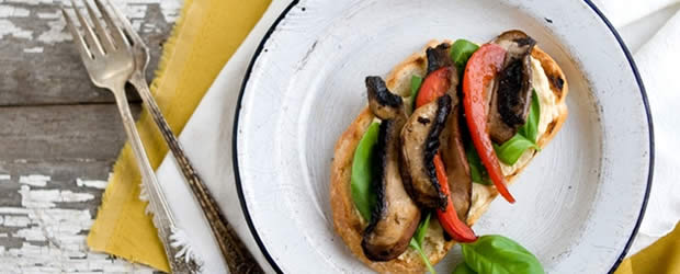 recette tartine salée légumes grillés