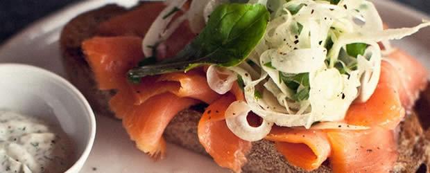 recette tartine salée saumon