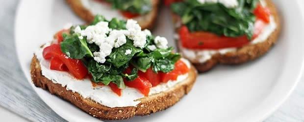tartine salée tomates mozzarella