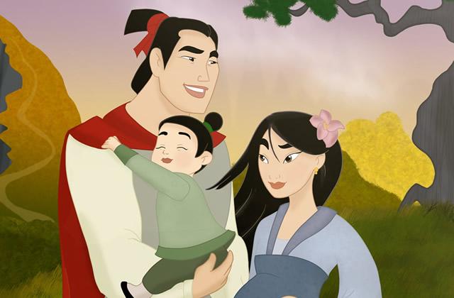 La vie de famille des personnages Disney