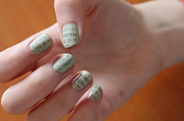 Tuto Nail Art La Manucure Papier Journal