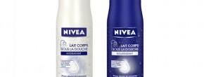 Nivea t'offre un échantillon gratuit de son lait hydratant sous la douche