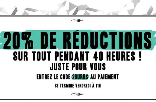 Les 40 heures d'Urban Outfitters : 20% de réduction sur tout !