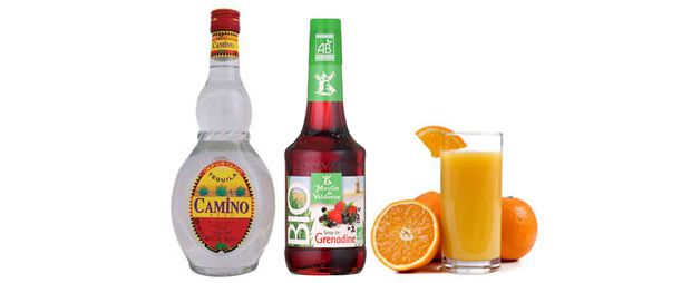 Tequila Sunrise cocktail facile ingredients
