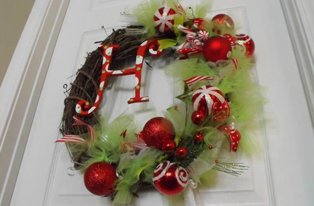 L'atelier-concours custo #1 : la couronne de Noël