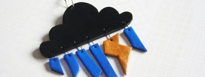 DIY — Le pendentif météo en pâte fimo