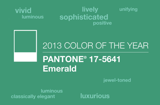 s lection d co vert meraude couleur de l 39 ann e 2013 par pantone. Black Bedroom Furniture Sets. Home Design Ideas