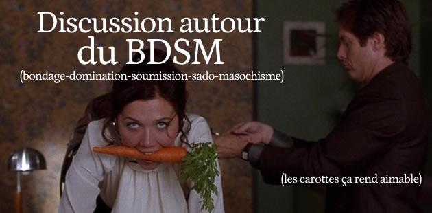 Discussion autour des pratiques sexuelles sado-maso et du BDSM