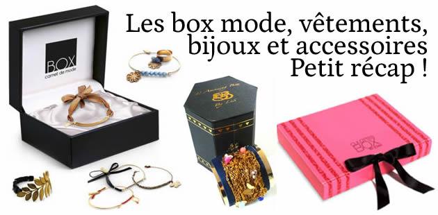 Les box bijoux, vêtements et accessoires : tour d'horizon