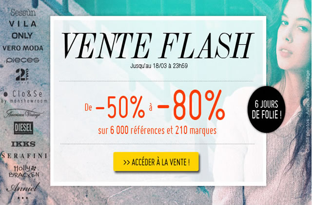 Vente Flash Monshowroom : jusqu'à -80% !