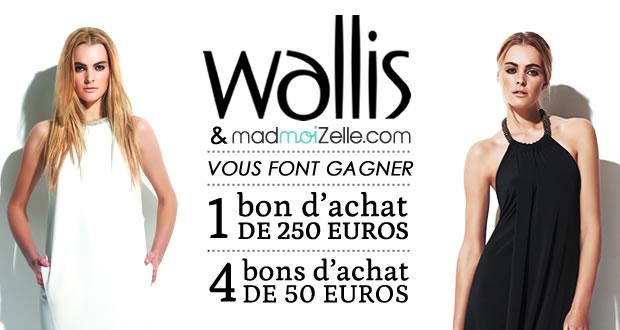Concours : 5 bons d'achat Wallis à gagner !