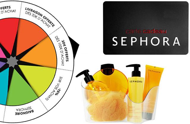 Sephora t'invite à tourner sa Glam Roulette !