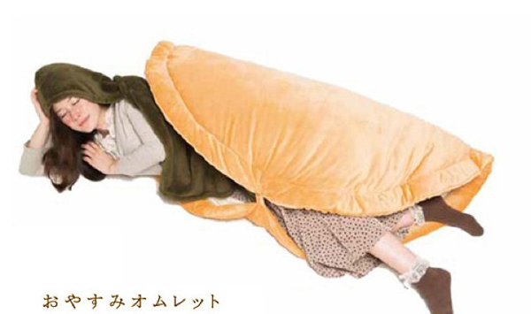 Dormir dans un croissant, une omelette ou un sandwich bread2