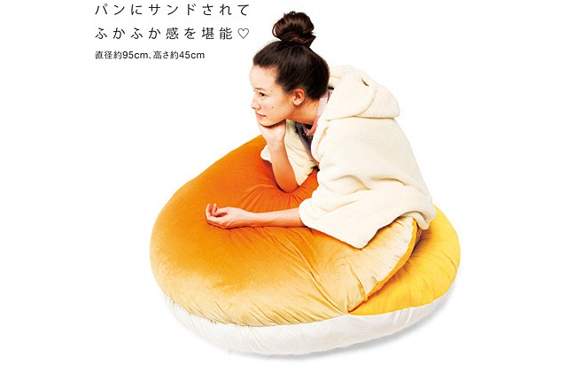 Dormir dans un croissant, une omelette ou un sandwich