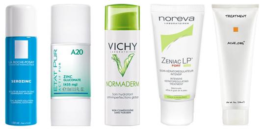 sélection anti acné après l'été