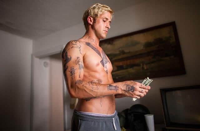 Ryan Gosling en slip coupé au montage