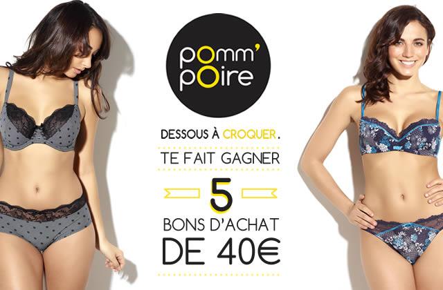 Concours — 5 bons d'achat Pomm'Poire à gagner !